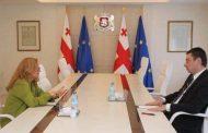 Türkiye'nin Tiflis Büyükelçisi Fatma Ceren Yazgan ile Gürcistan Başbakanı  Giorgi Gakharia