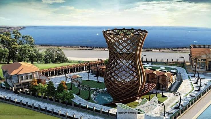 მსოფლიოში ყველაზე დიდი ჩაის ჭიქა რიზეში/Dünyanın en büyük çay bardağı Rize'de inşa ediliyor