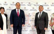 Gürcistan Büyükelçisi Giorgi Janjgava USHAŞ Genel Müdürü Mehmet Ali Kılıçkaya ile görüştü