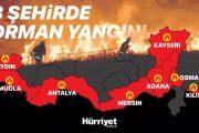 ძლიერი ქარის გამო ამ დრომდე ვერ აქრობენ თურქეთის საკურორტო რეგიონებში...